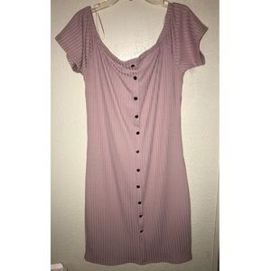 Mauve mini dress